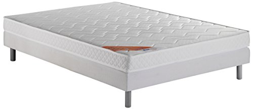 Dunlopillo DunloPrems Up Ensemble sommier + matelas mousse polyuréthane 28 kg/m3 160x200