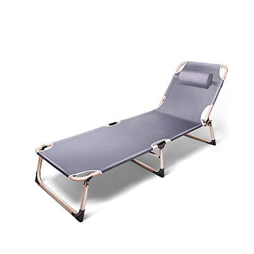 YQAD Lettino Pieghevole da Campeggio reclinabile Metallo Leggero da 3 Pieghe Letto da Giardino da Campeggio casa Ufficio Patio sedie Sdraio da