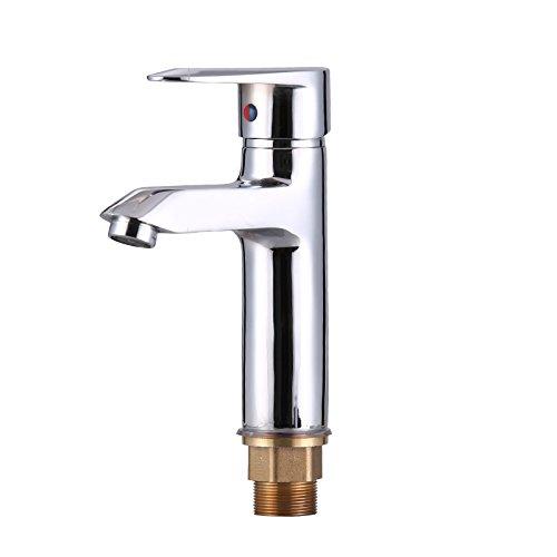 Srinivalei Waschtischarmatur Wasserhahn Armatur wasserfall für Badezimmer Waschbecken Wasserhahn einzelne Bohrung voll - Einzelne Wasserhahn Waschbecken Badezimmer