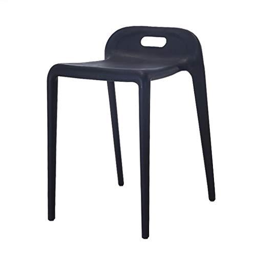LXQGR Sedia da Giardino con Schienale Basso in plastica, sedie da Esterno impilabili per Esterni (Color : Black)