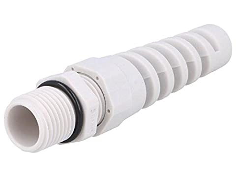 2x BM4917S Cable gland with strain relief M16 IP68 Mat polyamide grey BM GROUP