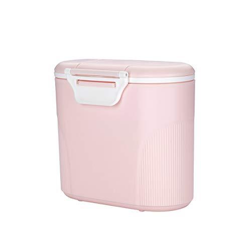 Luchild milchpulver aufbewahrung,Milchpulver-Spender Tragbarer Baby-Milchpulver-Behälter Formel Milchpulver-Vorratsbehälter mit Gleichmacher und Löffel - Kapazität 380g (Rosa)
