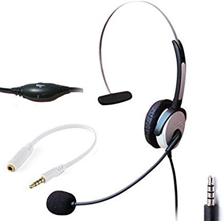 Computer Headsets Computer Accessories Peripherals Binaural H20j35 Electronics Audio Video Accessories Voistek Wired Cell Phone Headset With Noise Canceling Boom Mic Adjustable Headband For Iphone Samsung Lg Htc Blackberry Huawei