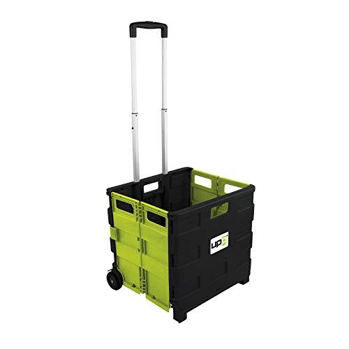 UPP® Shopping Cart mit Deckel/Einkaufswagen/Einkaufstrolley/Rollwagen/Rollkiste/Tragekorb/Einkaufskorb/Shopping Bag/Trolley