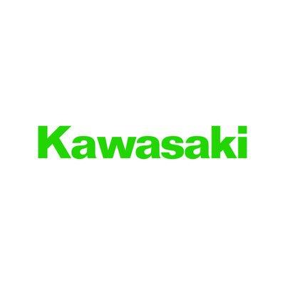 Kawasaki logo replica sticker moto decal motorcycles adesivo prespaziato senza fondo in vinile colore verde chiaro lucido, 20 centimetri.