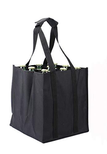 Besnail Bottle-Bag 9er, Flaschentasche für 9 Flaschen, Schwarz,26 x 26 x28 cm