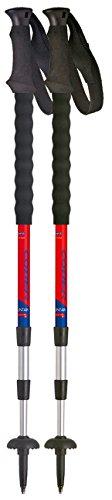 Cober Mountain Plus, bâtons de Trekking Unisexe – Adulte, Rouge, de 105 à 140