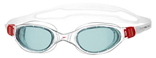 speedo-futura-plus-gafas-de-natacion-unisex-color-rojo-gris-talla-unica