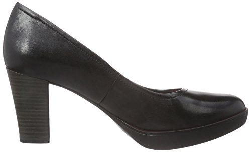 Tamaris 22425, Decolleté chiuse donna Nero (Schwarz (Black Leather 003))