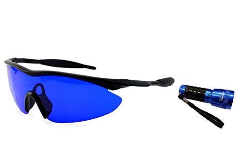 Clubs Scratch Golf (Posma SGG-010C-Golfball-Finder Brille x 1 + Bundle Set Golfball Finder Taschenlampe UV-UV-Taschenlampe x1)