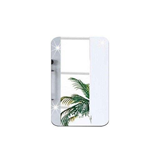 Meisijia Spiegel Wandaufkleber Oval Self Adhesive rechteckig Schlafzimmer Shop Kunst-Dekor-Mirrored Dekorative Decals Poster Paster - Gespiegelte Möbel Aus Glas