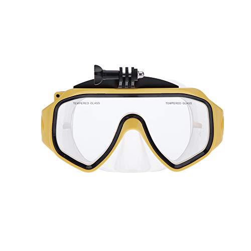 NinJaSun Outdoor-Sport-Kamera wasserdichtes Gehäuse, Taucherbrille Taucherbrille für gopro,Yellow