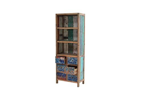 Ploß Unikat: Bücherregal mit 6 Schubladen und 2 Zwischenböden, B/T/H: 75 x 40 x 205 cm