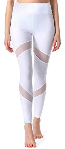 Merry Style Damen Lange Leggings Fitnesshose MS10-233 (Weiß, 38 (Herstellergröße: M))