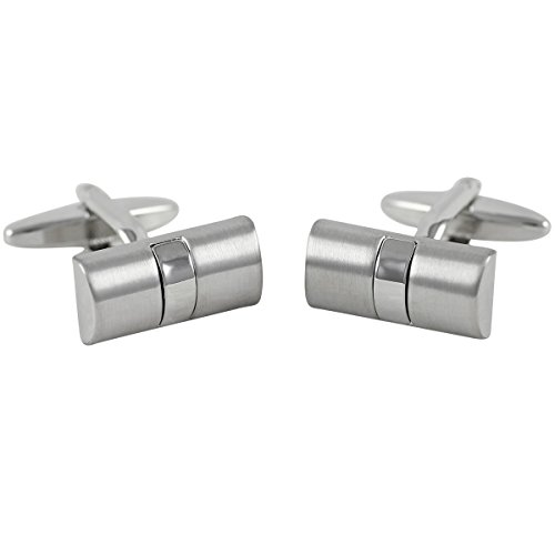 Lindenmann Cufflinks/Cuff Buttons, Silvery, with Gift Box, 2732