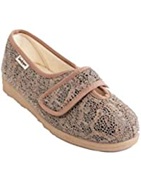 d65d9ab9ade7 Sandpiper Sue Ladies Slippers 4E-6E Extra Wide Fitting
