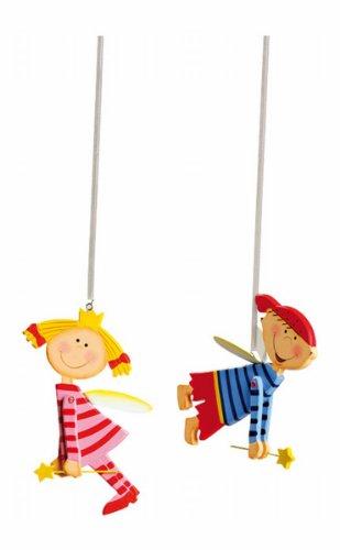 """Schutzengel Jumper  \""""Tim und Laura\"""" im 2er Set, süße Kinderzimmerdeko im bunten Design, schweben sanft und wachen über ihre kleinen Schützlinge"""