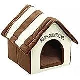 Momshand Tragbarer Innen-Hundebett Haus Weich Warm und bequem Sweet Raum