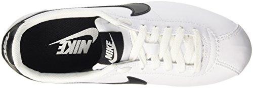 Nike Wmns Classic Cortez Leather, Scarpe Sportive Donna Bianco (White/Black/White)