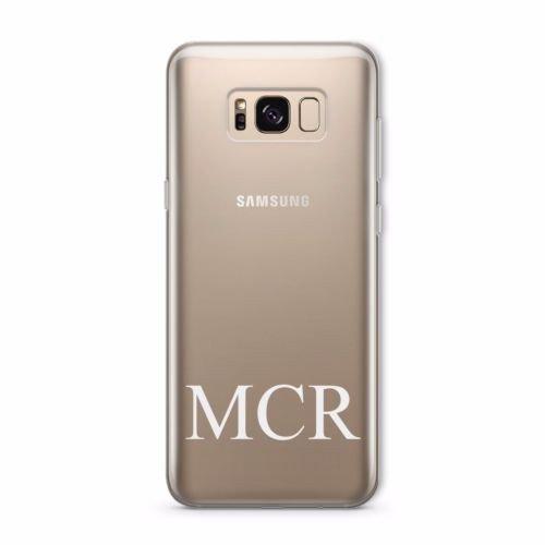 Personalisierte klar blickdicht Initialen Schutzhülle für Samsung Galaxy Serie, plastik, Initial Small Bottom, Initial Small Bottom, Samsung Galaxy S8 Edge Initial Bottom, Initial Bottom