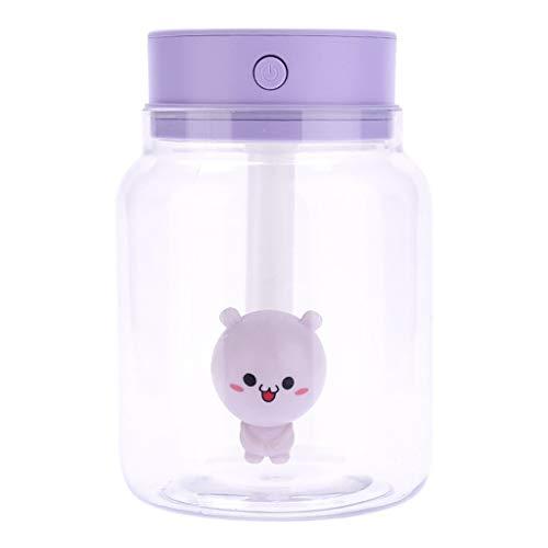 TianranRT❄ Raumbefeuchter,Home Mini Usb Luftbefeuchter Luftbefeuchter Zerstäuber Luftreiniger Diffusor Glas Bonbons (Lila) (Luftbefeuchter Viola)