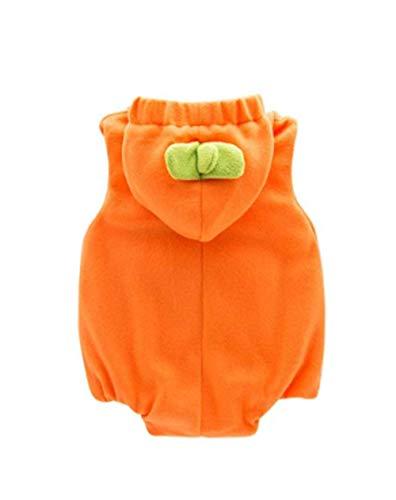 MU Maskerade Baby Cute Halloween Weihnachten Kürbis Kostüme Kleinkind 'S Hooded Romper Jumpsuit Body Outfit für 6-24M Jungen und Mädchen,18-24 - Weiches Und Bequemes Kürbis Kleinkind Kostüm
