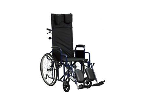 Faltbarer Rollstuhl mit verstellbare Rückenlehne