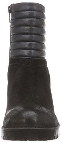 SPM Dropshot Ankle Boot, Biker imbottiti a gamba corta donna Nero (Schwarz (Black/Black))
