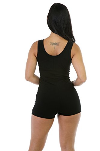 Qissy® Femmes Backless Sexy Sans Manches Sport Bodysuit Barboteuses Vêtements de Yoga Sports Rompers Blanc