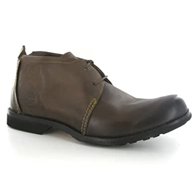 Timberland EK City PT Chukka Brown Leather Mens Boots Size 43.5 EU