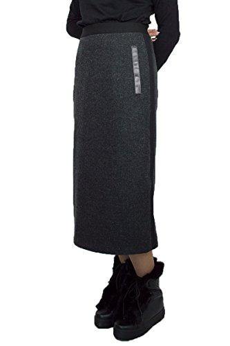 Lässiger Warme Winter Wolle Wool Rock Bleistift waden Länge Schwarz Melange Größe EU 36 38 40 42 44 46 48 50 (46) (Wolle-bleistift-rock Schwarze)
