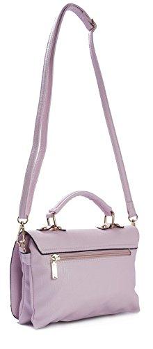 Big Handbag Shop - Borsa a tracolla donna (Metalic Champagne (GU585))