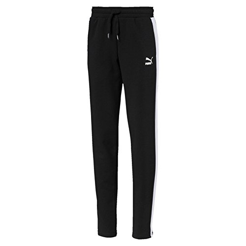 French Terry Classic Fit Pant (Puma Mädchen Classics T7 Sweat Pants Hose, Cotton Black, 164)