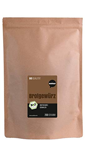 Wohltuer Bio Brotgewürz gemahlen ohne Geschmacksverstärker ohne künstliche Zusatzstoffe ökologisches Naturprodukt Gewürzmischung, 200 g