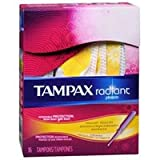 Always Tampax Radiant Tampons with Plastic Applicators Regular Absorbency Unscented, 16 Each by Always