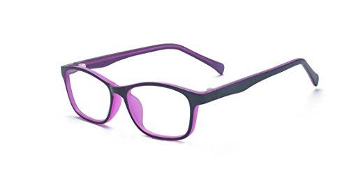 ALWAYSUV Kinderbrillen Klassische Klare Linse Brille Farbige Brillenfassung Brillengestell für...