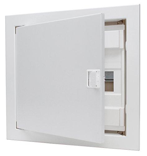 Kopp Unterputz und Hohlwand-Verteilerkasten mit Metalltür 1-reihig für 12 Pole, 1 Stück, Weiß, 340511000