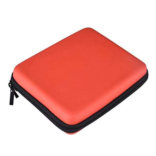 TianranRT Hard EVA Storage Zip - Funda protectora para Nintendo 2DS, Rojo