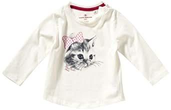 TOM TAILOR Kids Baby - Mädchen Hemd 10237020021/longsleeve cat, Gr. 62, Elfenbein (2007)