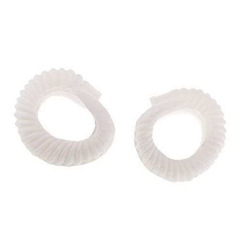 perfk Paar Künstliche Widder Hörner Kostüm Zubehör Für DIY Gothic Hair Stirnband Hoop - Weiß Hoop B