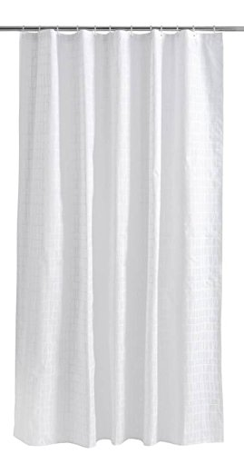 Finlayson De coronna Rideau de Douche, Coton, Blanc/Blanc, 180 x 200 cm – 200 x 200 cm