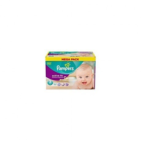 PAMPERS Active Fit Taille 3 - 4 a 9 kg - 90 couches - Format Mega pack
