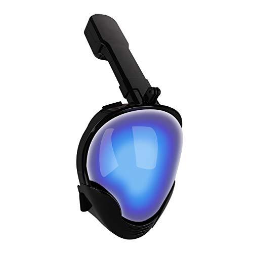 WYJHNL Masque De Plongée Intégral, Protection UV Masque De Plongée Anti-buée, 180 ° Masque De Plongée Facile à Respirer pour Adultes, Adultes Et Jeunes (Femmes Et Hommes),S/M