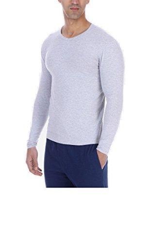 Solo® Long sleeve. Herren Unterhemd mit V- Ausschnitte. Cotton Stretch- Komfortabel Herren Unterhemden,Warm, Wich, Langärmeliges T-Shirt . Farben und Größen. Elastische Baumwolle Grau