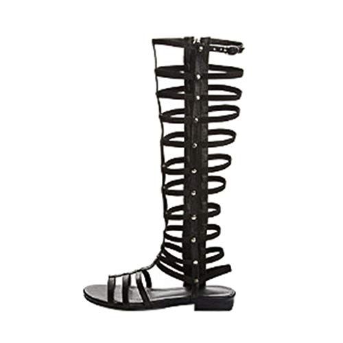 WWricotta Summer Women Ladies Fashion Casual Flats Knee High Boots Roma Shoes Sandals(Schwarz,38) Womens Jacket Roma