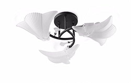 Deckenleuchte Wohnzimmer Schlafzimmer Home Lighting Modern Einfach Restaurant Kreative Lampen American Style Bügeleisen Shell Artillumination 3 Kopf 50 * 20 Cm MeloveCc -