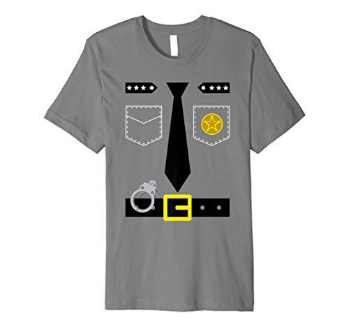 Polizist Kostüm T Shirt Einfache Polizei Verkleidung Idee