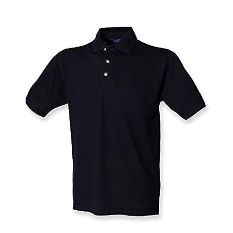 Henbury classic polo shirt in navy 3XL