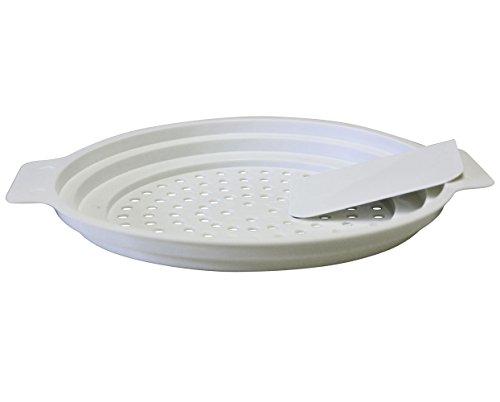 Scolapasta per Spätzle, con raschietto Gourmet di fissaggio 1 bianco
