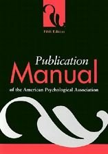 Publication Manual of the American Psychological Association, 6th Edition by American Psychological Association(2009-07-15)